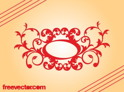 Retro decorativo Floral Scroll