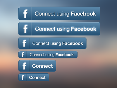 Facebook Connect knappen Set