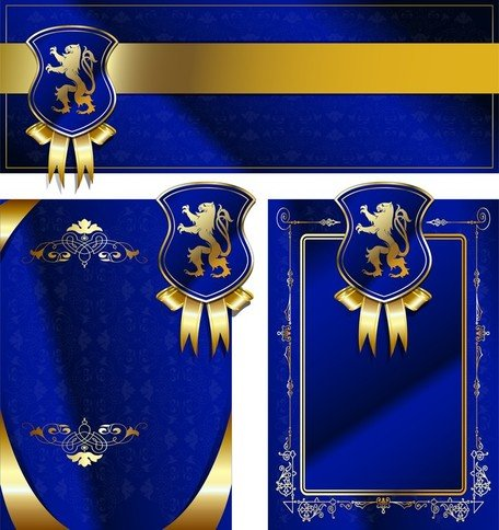 Royal Shield Ribbon Card