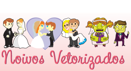 Bride and Groom Vector Art Free