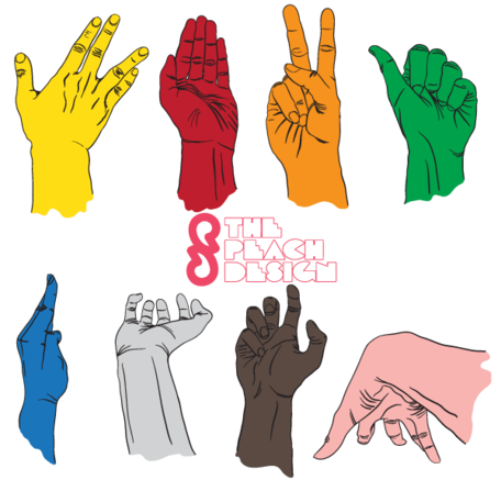 Hand drawn Hands Vector Illustrator Pack Free