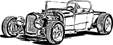 Modelo livre T Hot Rod