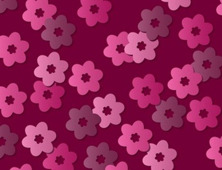 Roze Retro Floral Vector patroon