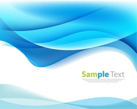 Blue Modern Futuristic Background with Abstract Waves