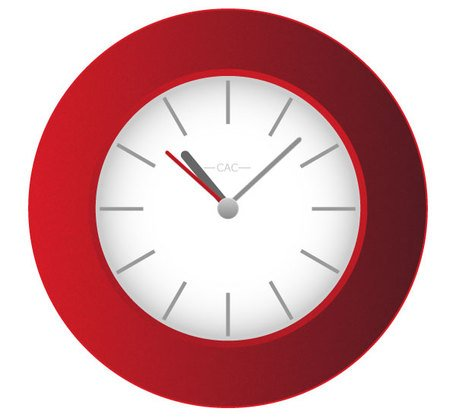 Free Red Wall Clock
