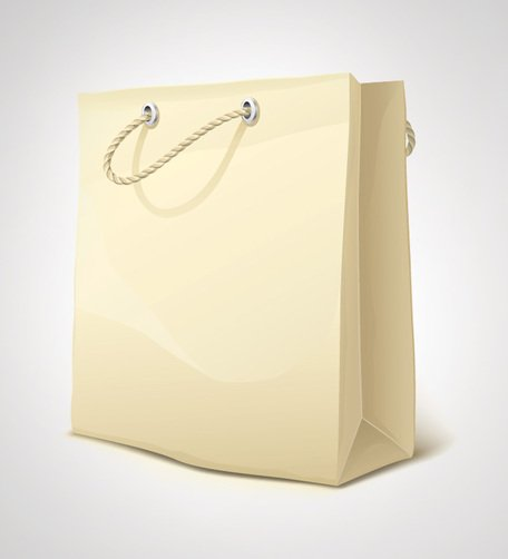 Borsa Shopping carta realistico