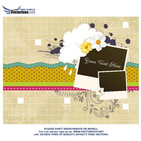 VINTAGE SCRAPBOOK VECTOR ILLUSTRATION.eps