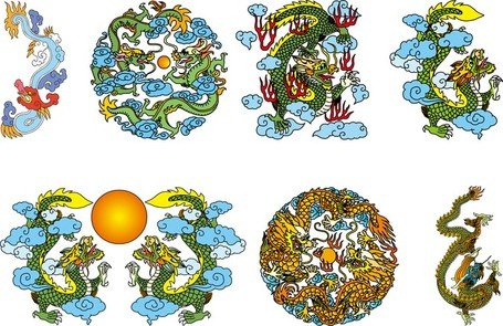 Chinese Classical Dragon Vector Of The Three