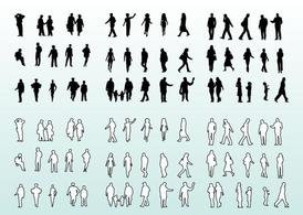 People Silhouettes and Outlines