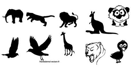 Silhouettes animaux gratuits