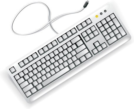 free white computer keyboard clipart and vector graphics clipart me rh clipart me keyboard clipart black and white keyboard clip art free