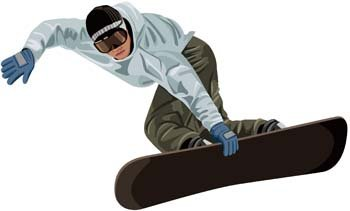 Snow boarding vector 4