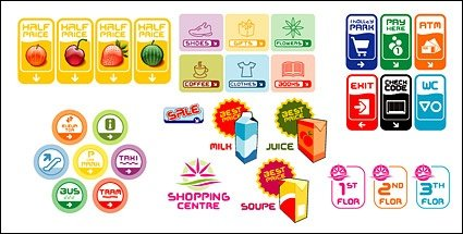 Various signage vector icon