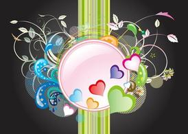 Hearts And Flowers Graphics