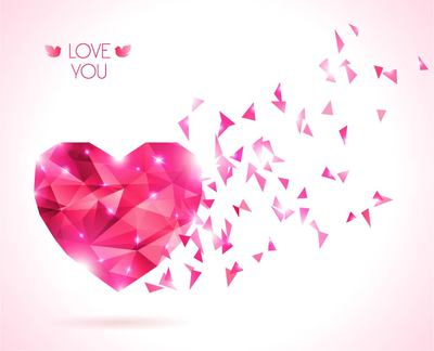 Diamond Texture Red Valentine Background