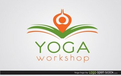 Yoga logotyp mall