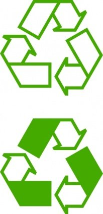 Recycle pictogrammen