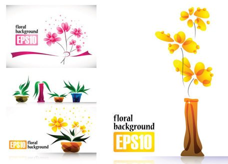 Special flower decoration vector of plant material