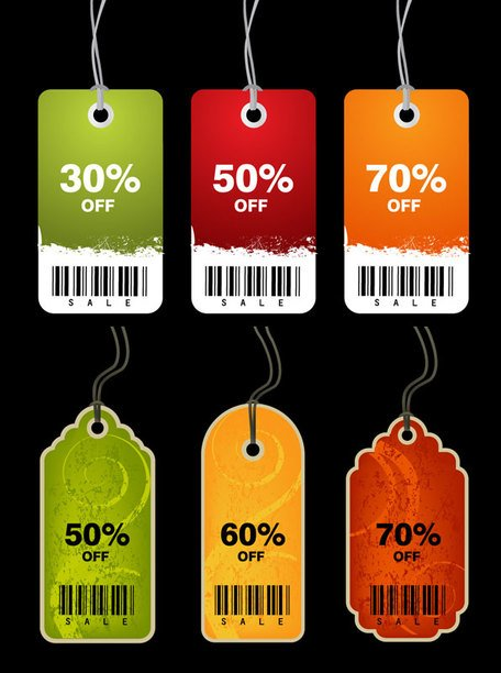 Discount sale tag