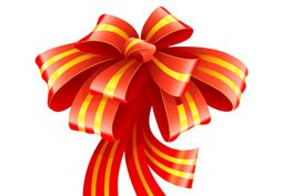 Ribbon for christmas gift decoration