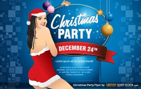 Christmas Party Flyer Template vecteur libre