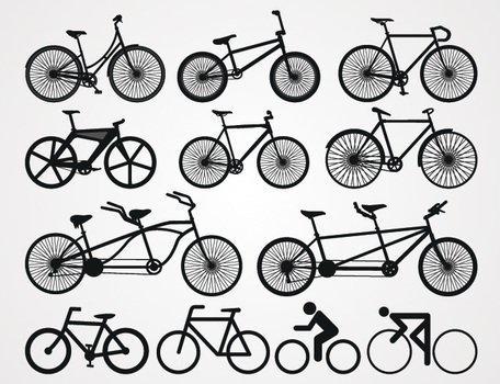 Bicycle Silhouette Vectors (Free)