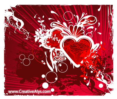 Grungy Abstract Heart Background