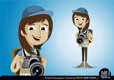 Female Photographer Character