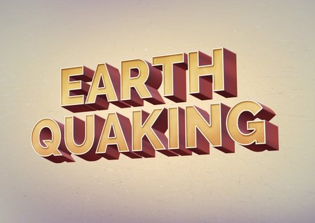 Earth Quaking Text Effect