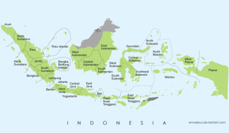 Gratuit Vector Map of Indonesia