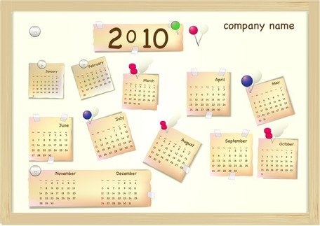 Calendar Year 2010 Vector Lovely