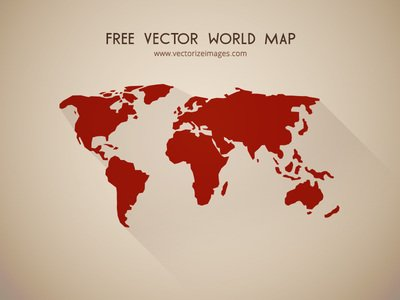 Free flat detailed shape world map clipart and vector graphics flat detailed shape world map gumiabroncs Images