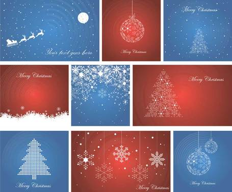 Beautiful Christmas theme elements vector-10