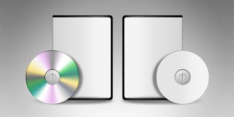 Lege DVD CD sjabloon (PSD)