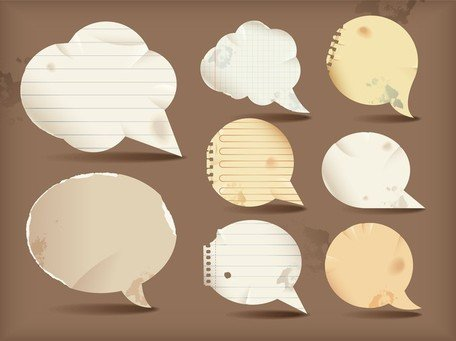 Dialogue Bubble Paper Vector 1