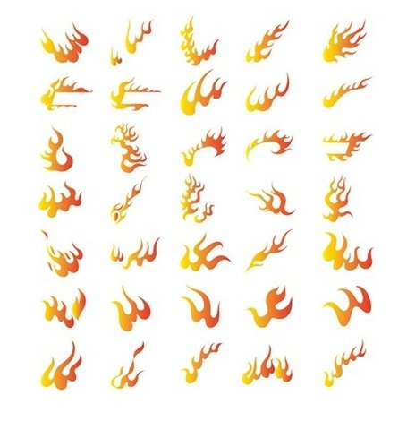 Vector Collection of Different Fire Symbols