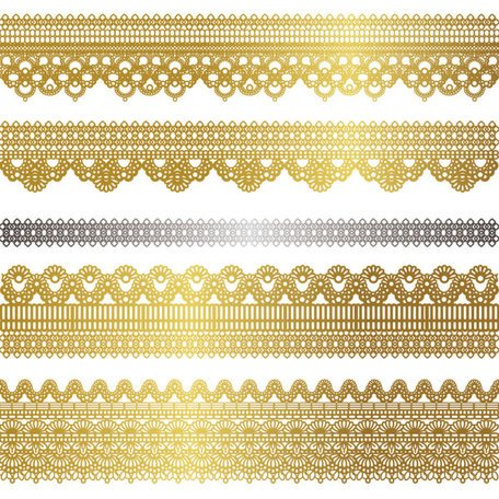 Gold lace pattern 02