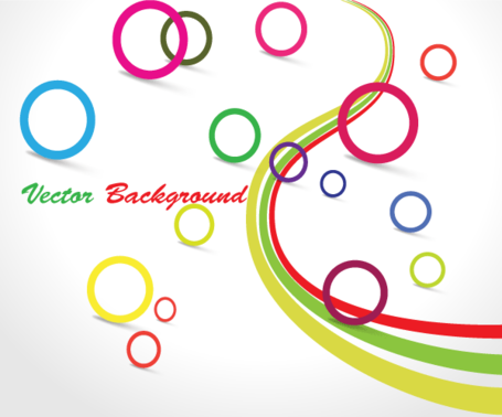 Colorful Circle Vector Graphic Design Background