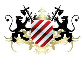 Blazon With Lions