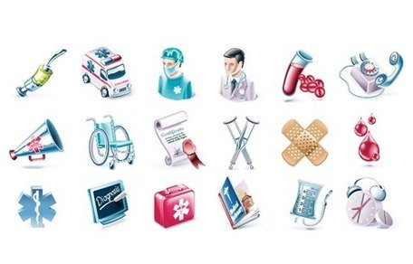 Health and Medical Vector Icon Set