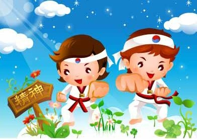 Children's Tae Kwon motion vector material 3
