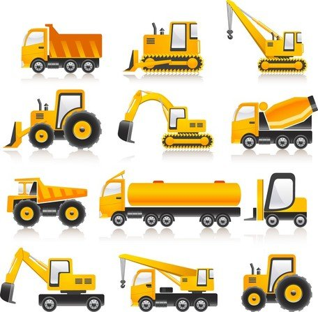 Construction Vehicles Vector Collection