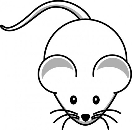 Simple Cartoon Mouse