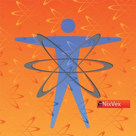 "Nixvex Nixvex , u"""""": uAtomic Energy"" Free Vector Texture And Symbol"