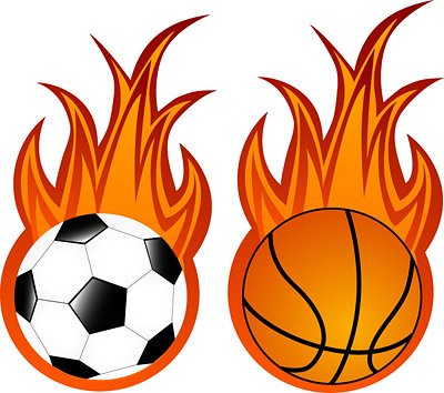 Football and basketball flame, Vectors - Clipart.me