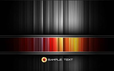 Black and Colorful Striped Background Template
