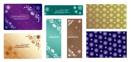 Snowflake Vector material with lace corner