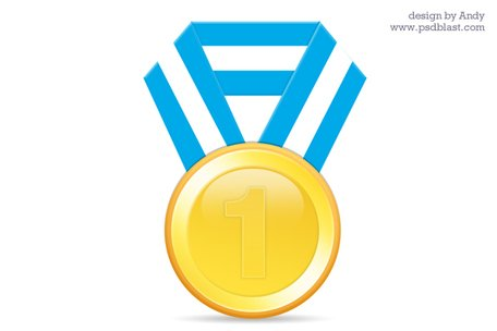 Gold medal PSD & Download