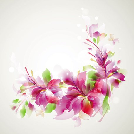Abstract Floral Vector achtergrond (gratis)