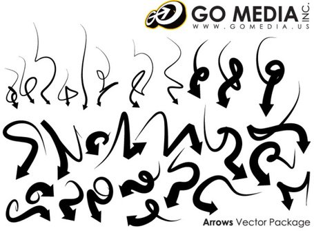 Go Media Vector Chupin material - Cool Arrow